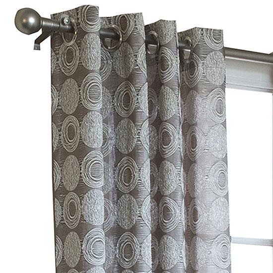 Mayan Energy Saving Light-Filtering Grommet-Top Single Curtain Panel