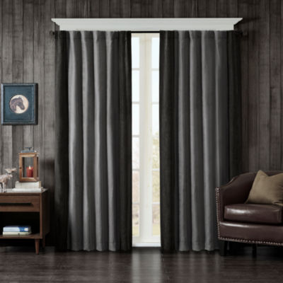 Watson Faux Suede Rod-Pocket Curtain Panel
