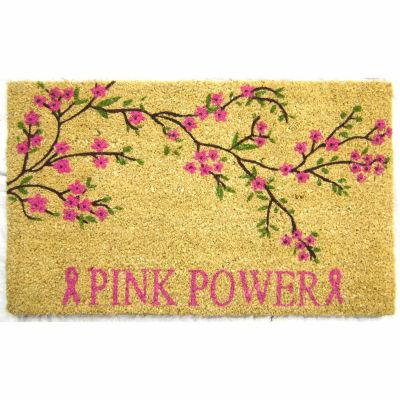 Pink Power Rectangular Doormat
