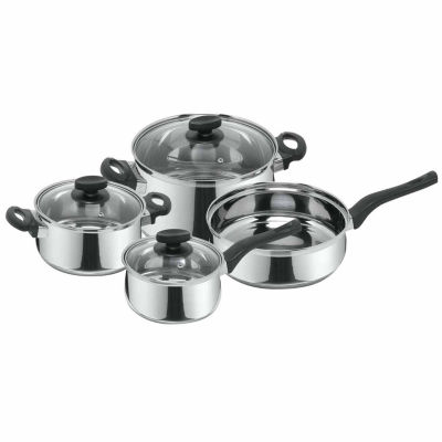 7-pc. Stainless Steel Dishwasher Safe Cookware Set