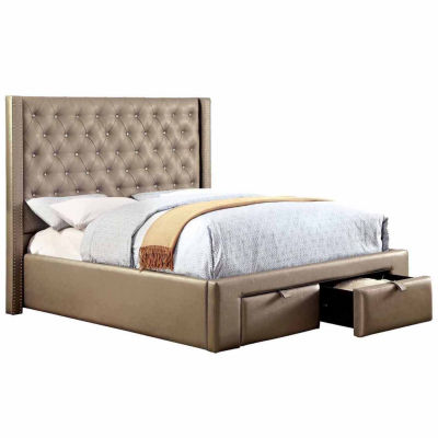 Madison Silver Upholstered Bed