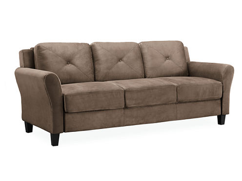 Hartford Microfiber Rolled Arm Sofa