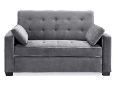 Serta Augustine Microfiber Track Arm Full Sleeper Sofa