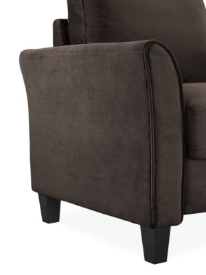 Westin Microfiber Curved Arm Chair