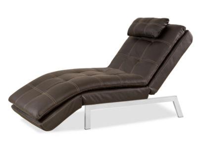 Serta Valencia Leather Chaise