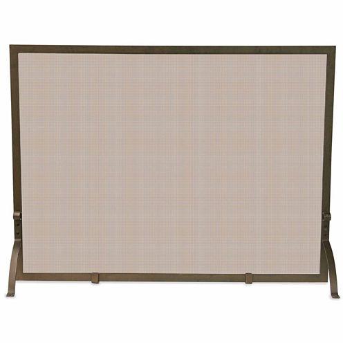 Blue Rhino Single Panel Bronze Fireplace Screen