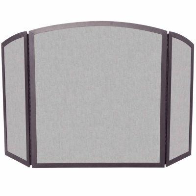 3 Fold Bronze Wrought Iron Fireplace Screen