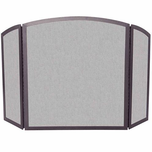 Blue Rhino 3 Fold Bronze Wrought Iron Fireplace Screen