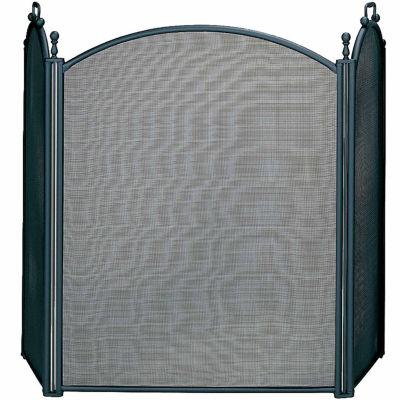 3 Panel Woven Mesh Fireplace Screen