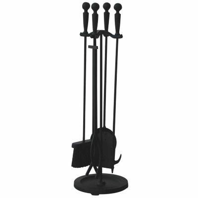 Double Rod Fireplace Tool Set