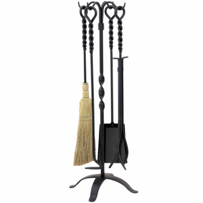 Twist Wrought Iron Fireplace Tool Set