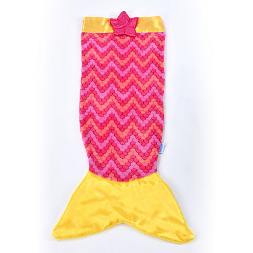 As Seen On TV Pink & Yellow Mermaid Snuggie Tail