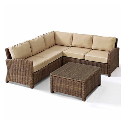 Crosley Bradenton Wicker 4-pc. Patio Lounge Set
