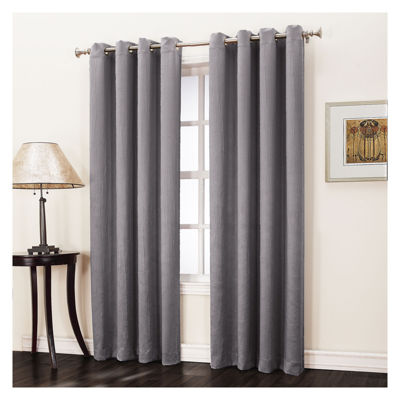 Sun Zero Emory Crush Grommet-Top Curtain Panel