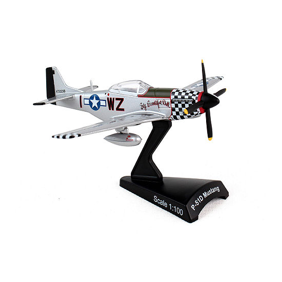 Postage Stamp Die Cast P-51d Mustang Wwii Fighter 1/100 Scale Model Kit
