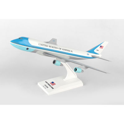 Sky Marks Skr041 Air Force One Boeing 747-200 Vc251/250 Scale Desktop Model With Stand
