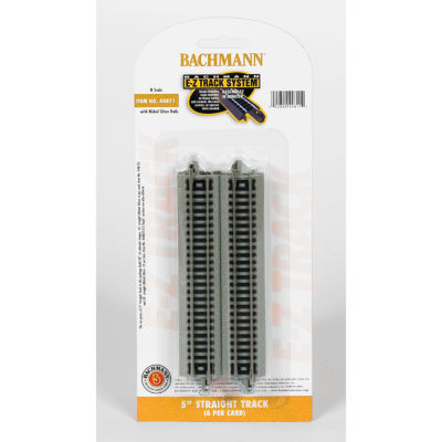 "Bachmann Trains 5"" Straight Track (6/Card) - N Scale"