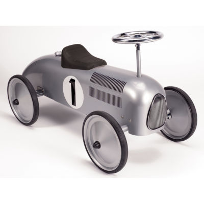 Schylling Speedster Ride-On - Silver Race Car