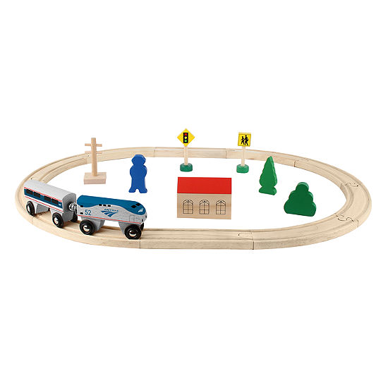 Daron Amtrak Wooden Train Set 20 Pieces