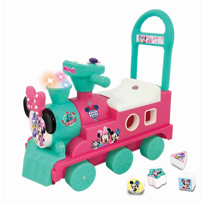 Kiddieland Disney Minnie Mouse Play N' Sort Activity Train Ride-On