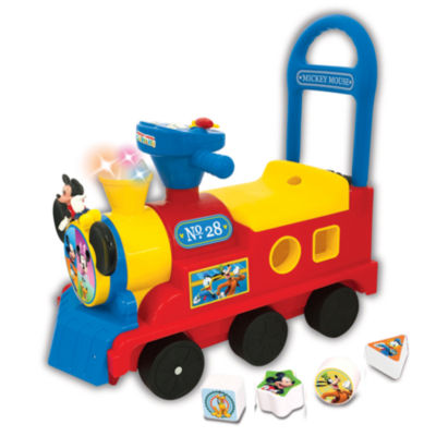 Kiddieland Disney Mickey Mouse Clubhouse Play N' Sort Activity Train Ride-On