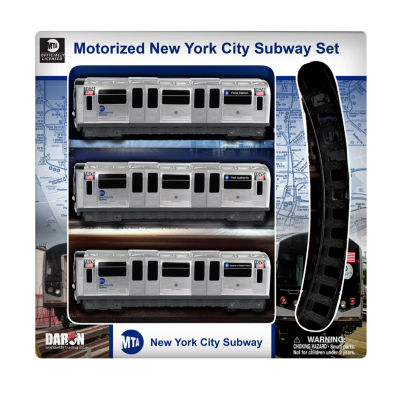 Daron New York MTA 3 Piece Subway Set with 8 PieceTrack