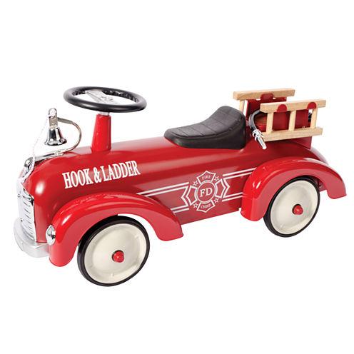 Schylling Metal Speedster-Fire Truck Ride-On