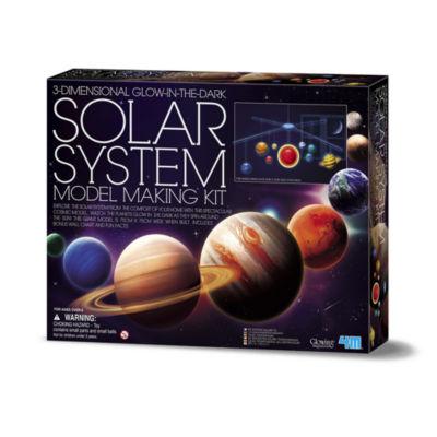 4M 3D Glow-In-The-Dark Solar System Model Making Science Kit - Stem
