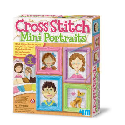 4M Cross Stitch Craft Sewing Kit - Mini Portraits