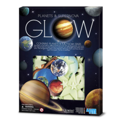 4M Glow-In-The-Dark Planets & Supernova Stars Wall& Ceiling Stick-ons