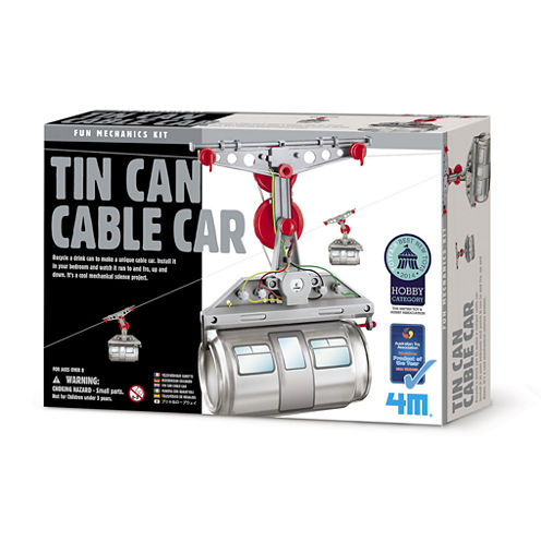 4M Tin Can Cable Car Science Kit - Stem