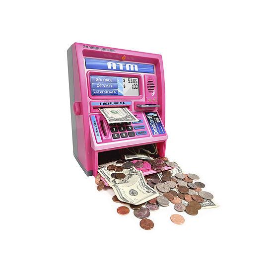 Ben Franklin Talking Atm Machine - Pink