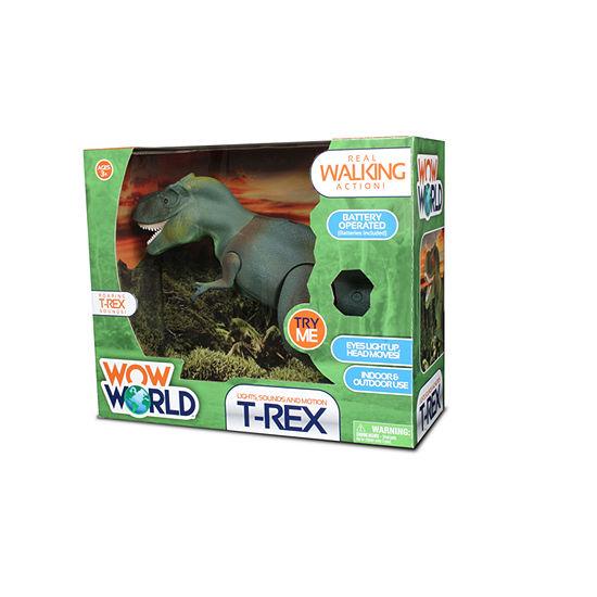 Nkok Wow World T Rex Dinosaur Figure Lights Up