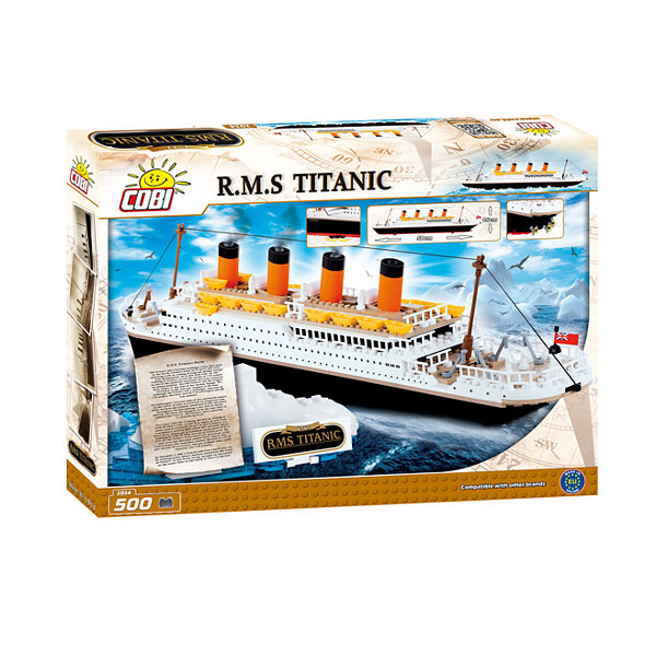 COBI - Action Town 1914 Titanic White Star Line- 500 Block Building Set