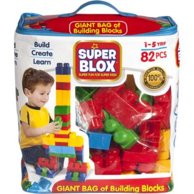 Cra-Z-Art Super Blox 82 Piece Building Block Kit -Boys Blue