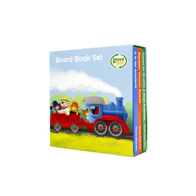Green Toys Board Book 3-Packs; Counting- Sounds- ABCs