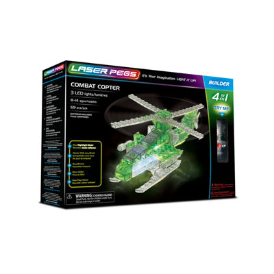 Laser Pegs Combat Copter 4-In-1 Building Set