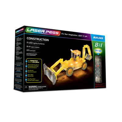 Laser Pegs Construction 8-In-1 Building Set