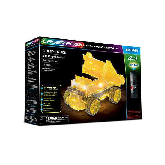 Laser Pegs Dump Truck 4-In-1 Building Set