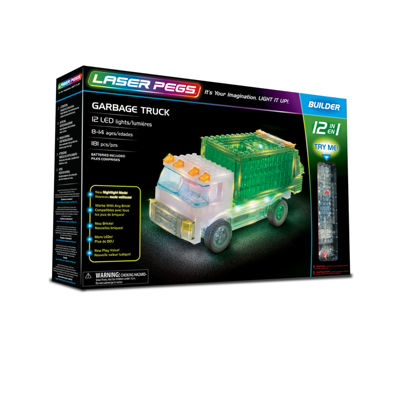 Laser Pegs Garbage Truck 12-In-1 Building Set