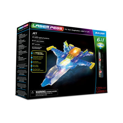Laser Pegs Jet 6-In-1 Building Set