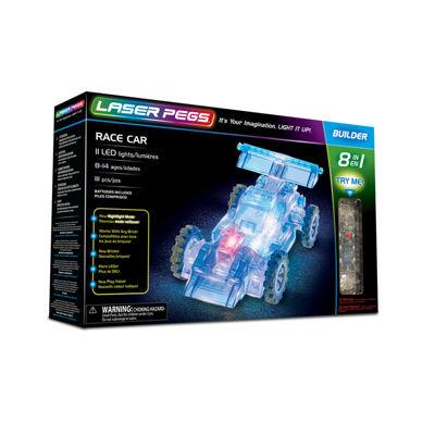 Laser Pegs Race Car 8-In-1 Building Set