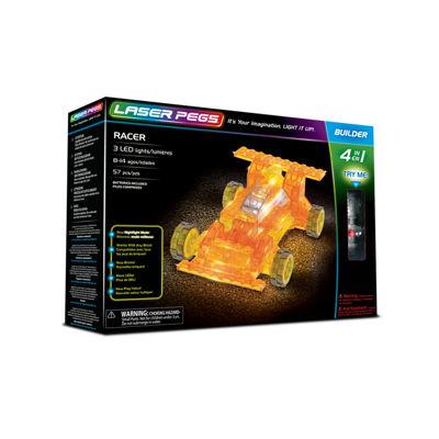 Laser Pegs Racer 4-In-1 Building Set