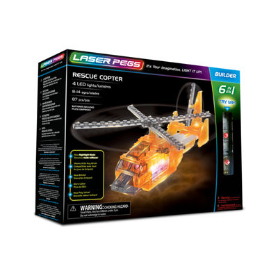 Laser Pegs Rescue Copter 6-In-1 Building Set