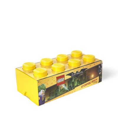 Lego Batman Storage Brick 8 Bright Yellow