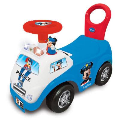 Kiddieland Disney Mickey Mouse My First Mickey Police Car Light & Sound Activity Ride-On