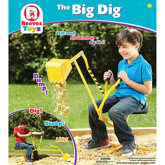 Reeves Toys Big Dig Ride On Working Crane