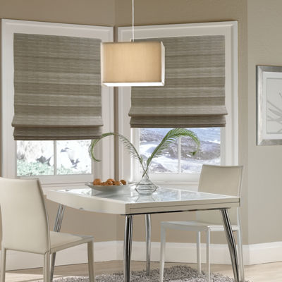 Wicker-Look Custom Cordless Roman Shade