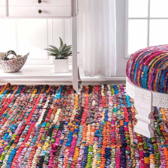 nuLoom Braided Chindi Cotton Michiko Rug