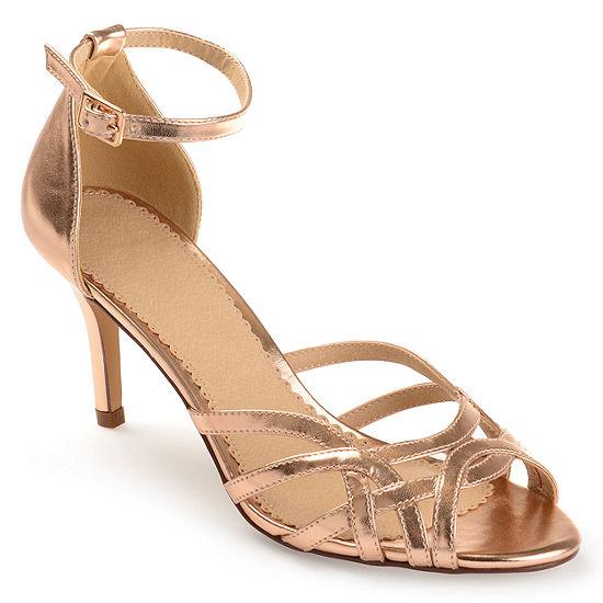 Journee Collection Womens Moyra Pumps Buckle Open Toe Stiletto Heel